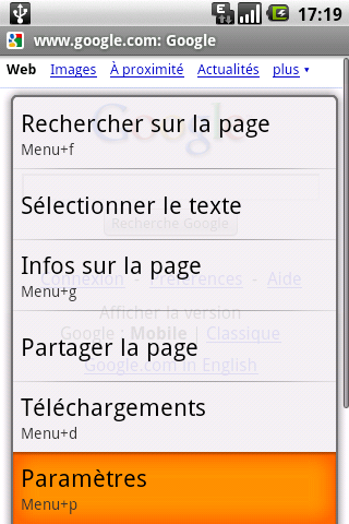 Changement User Agent Android